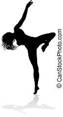 Dancing Woman Silhouette
