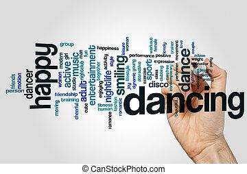 Dancing word cloud