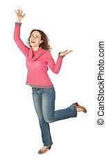 dancing young beautiful woman