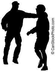 Dancing young men