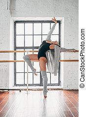 Dancing young performer