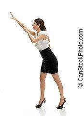 dancing young woman