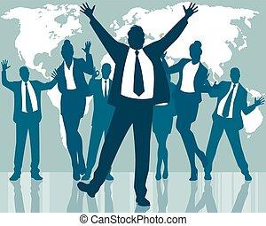 dancing, zakenlui