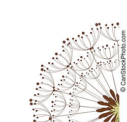 Dandelion flower - Close up of dandelion flower. Vector...