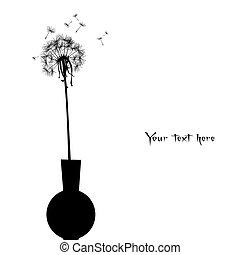 Dandelion in a pot