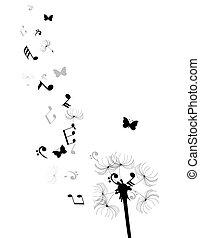 dandelion notes hearts