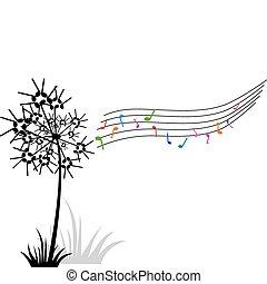 dandelion of music notes