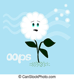dandelion oops seeds blowing in the breeze humorous...