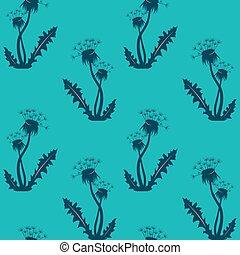 Dandelion seamless background