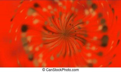 Dandelion seeds being blown,rotatio