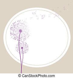 dandelion, vento, abstratos