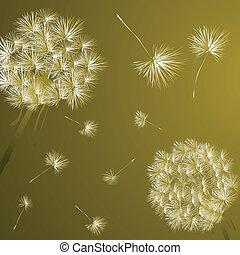Background illustration with dandelions