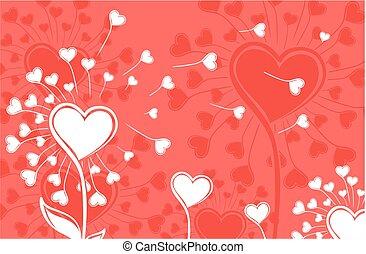 dandelions, hearts.