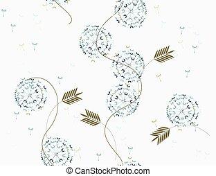 dandelions, macio, colors.