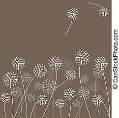 dandelions, vetorial