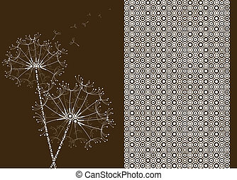 Dandelions with circle pattern effect.