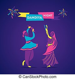 dandiya night poster design