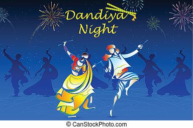 dandiya, spille, folk