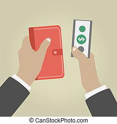 dando denaro, mano