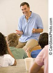 dando lecture, faculdade, professor