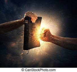 dando pugno, il, bibbia