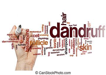 dandruff, słowo, chmura