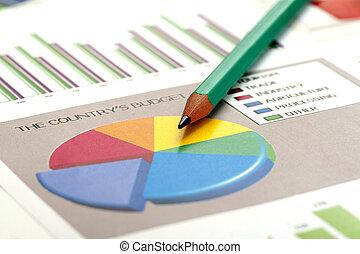 dane, analizując, handlowy
