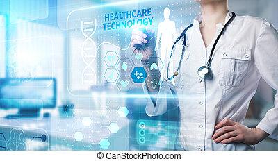 dane, medyczny, patients., diagnosis., sztuczny, technologia, analiza, healthcare, nowoczesny, o, pomoc, inteligencja, zdrowie