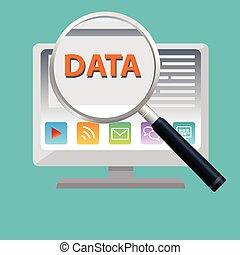 dane, wyolbrzymiać