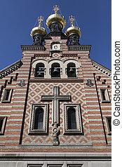 danemark, -, église, nevsky, copenhague, alexandre