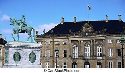 danemark, carrée, amalienborg, copenhague