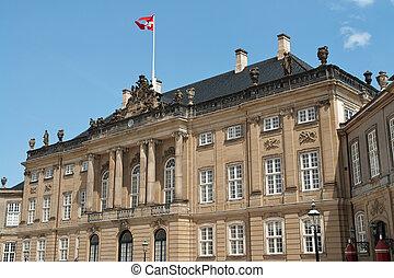 danemark, copenhague, palais amalienborg