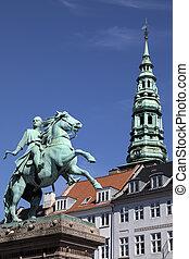 danemark, copenhague, -, statue, absalon