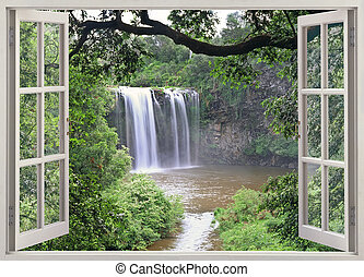 Dangar falls window view