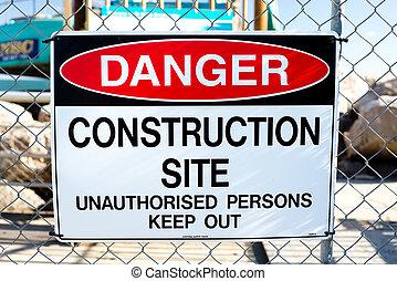 """danger!, 建設, site"", 印"