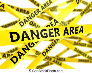 danger area tape