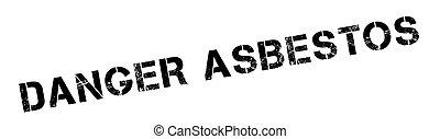 Danger Asbestos rubber stamp