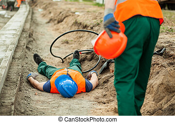 Danger at construction site
