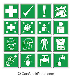 danger, avertissement, santé, &, sécurité