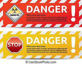Danger banner 2 color version collection