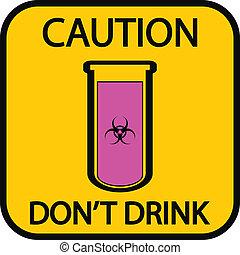Danger biohazard sign on white background. Vector...