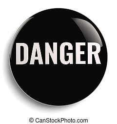 Danger Black Round Icon Symbol