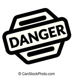 danger black stamp on white background