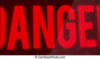 Danger Blinking Sign Motion Graphic