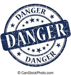 Danger Blue stamp