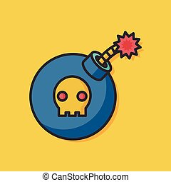 danger bomb vector icon