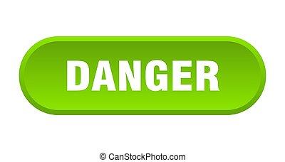 danger button. danger rounded green sign. danger