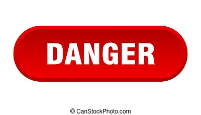 danger button. danger rounded red sign. danger