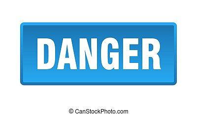 danger button. danger square blue push button