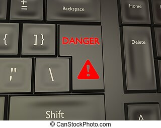 Danger button key